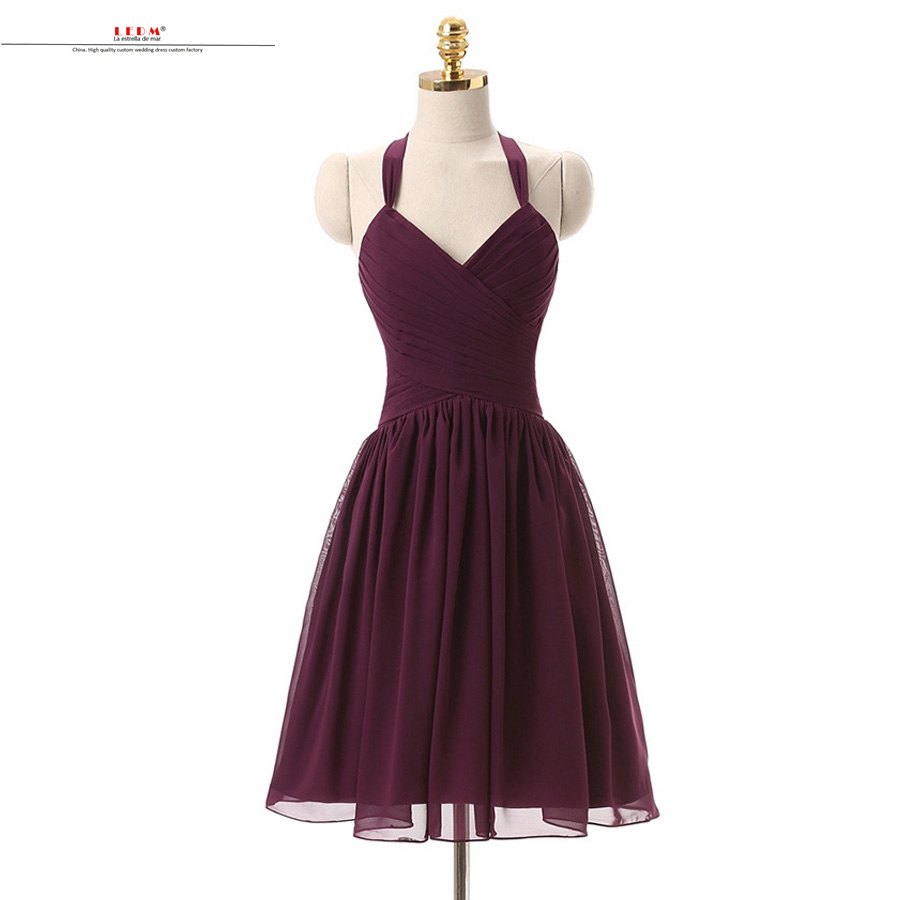 robe demoiselle d 39 honneur 2017 sexy sweet chiffon aline real burgundy bridesmaid dresses short. Black Bedroom Furniture Sets. Home Design Ideas