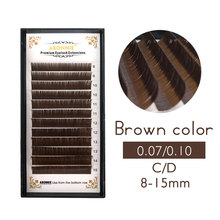 8-15mm brown eyelash extension, lashes eyelashes.Faux Mink False Eyelashes light color cilia lash