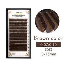 8-15mm brown eyelash extension, brown lashes brown eyelashes.Faux Mink False Eyelashes light brown color cilia lash недорго, оригинальная цена
