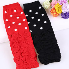 Baby Leg Warmer for Baby Girls Fashion Toddle Ruffle Leg Warmer Wave Agaric Girls Special Dot Socks Botas Botines Mujer Invierno(China)