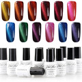 Yaoshun 12pcs Cat Eyes Magnetic Nail Gel Polish UV Long Lasting Gel Lacquer Varnish Led Gel