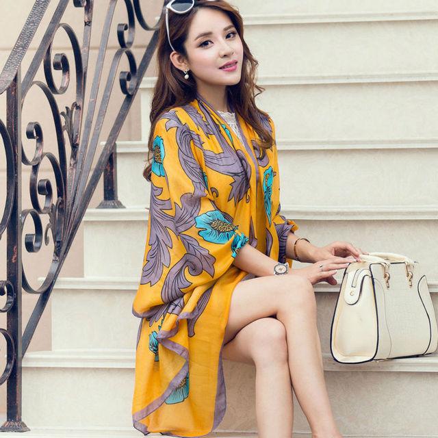 8 pçs/lote 2016 Novas Mulheres Cachecol Fashion Impressão Oversize Mulheres Bandana Cachecol Echarpes Xales E Hijabs Longo Macio de Alta Qualidade