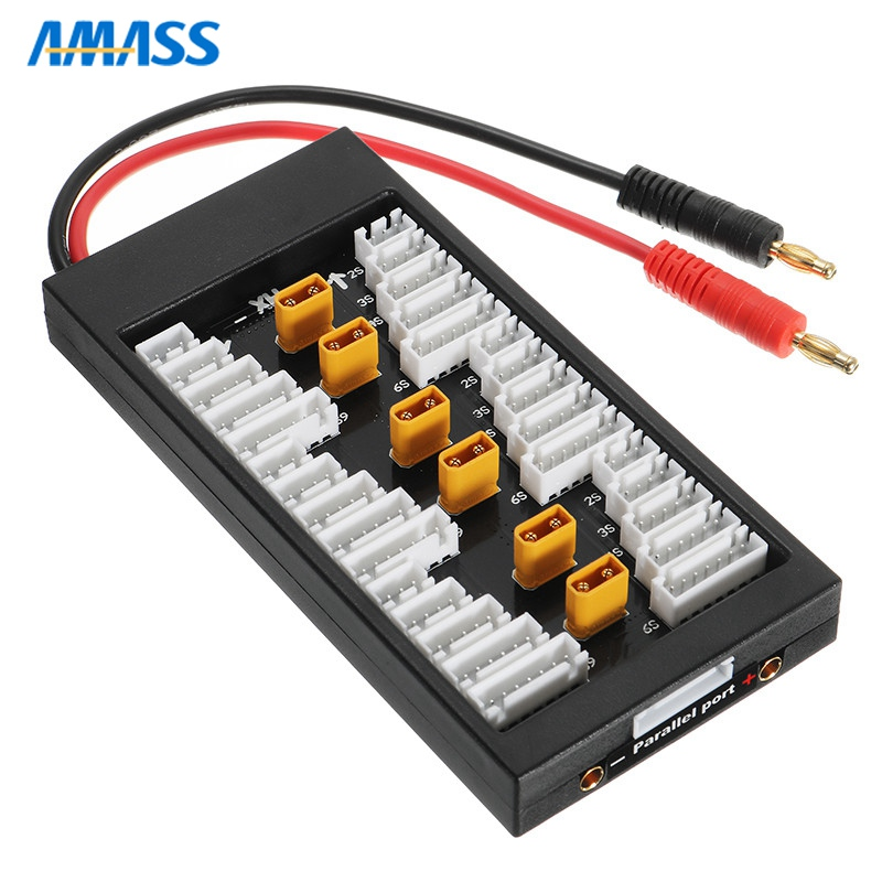 Free Shipping Amass XT30 Plug Connector 2S-6S 40A Lipo Battery Parallel Charging Board for IMAX B8 UN A6 Balance Charger DIY