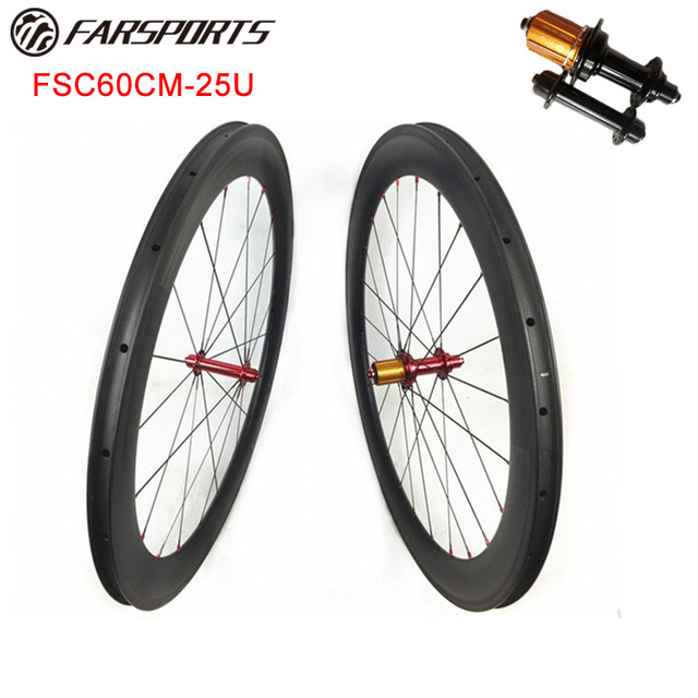 cb29ef17cf9 High Profile carbon wheels !! Far Sports 60mm x 25mm carobon rims clincher