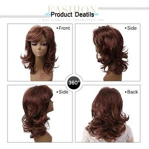 Image 5 - Amir Hair perruque synthétique naturelle complète sans caresse, postiche longue brune et Blonde pour femmes, postiche de cosplay en filet