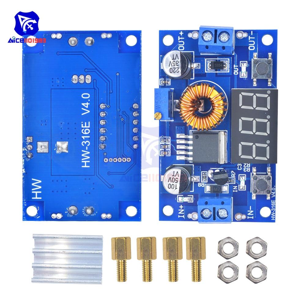 XL4015 75 W 5A DC DC Einstellbare Step Down Bord LED Voltmeter Power Supply Module 4,0-38 V zu 1,25 V-36 V DIY High Power PWM buck