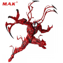 Com caixa 16 cm Anime figura Red venom Spiderman Carnificina Modelo Figura Exibição Toy Gift Collection encaixotado(China)