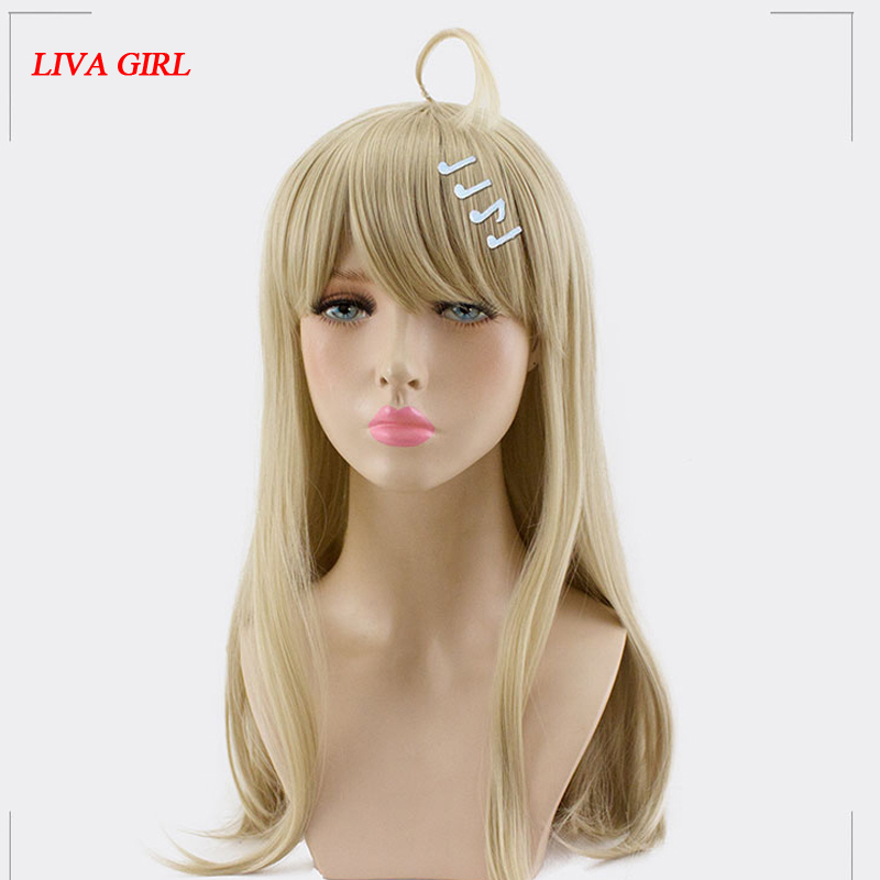 LIVA GIRL Kaede Akamatsu Cosplay Wig NewDanganronpaV3 Costume Play Wigs Halloween Costumes Hair free shipping NEW High quality