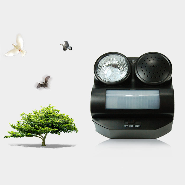 Black Birds Repeller Humane Protective Ultrasonic Infrared Harmless Flashlight Driving Controller foir your farm or Home