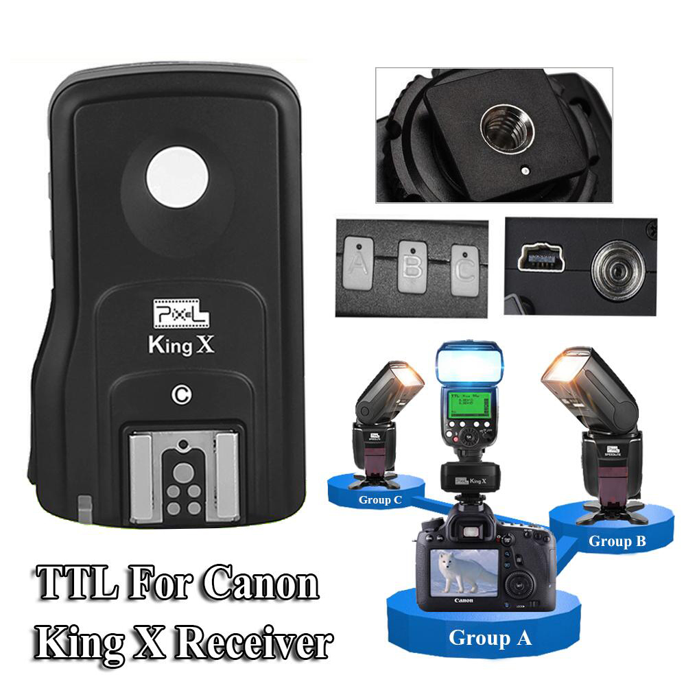 INSEESI Pixel King X RX 2.4G TTL HSS Wireless Flash Trigger King Pro Receiver USB Upgrade for Canon Eos Digital SLR Cameras inseesi pixel king x receiver rx 2 4g ttl wireless flash trigger high speed 1 8000s for nikon camera d7000 d3100 d5200 d600 d90