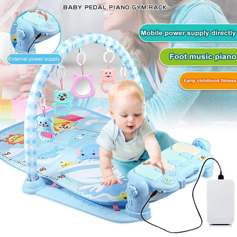 1 Pcs Kids Children Play Mat Gym Fitness Rack Baby Toy Piano Music Early Education @ZJF