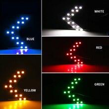 5 цветов Автомобильный светодиодный фонарь 2 шт. светодиодная Стрелка Панель 14 SMD индикатор поворота автомобиля светодиодный зеркало заднего вида