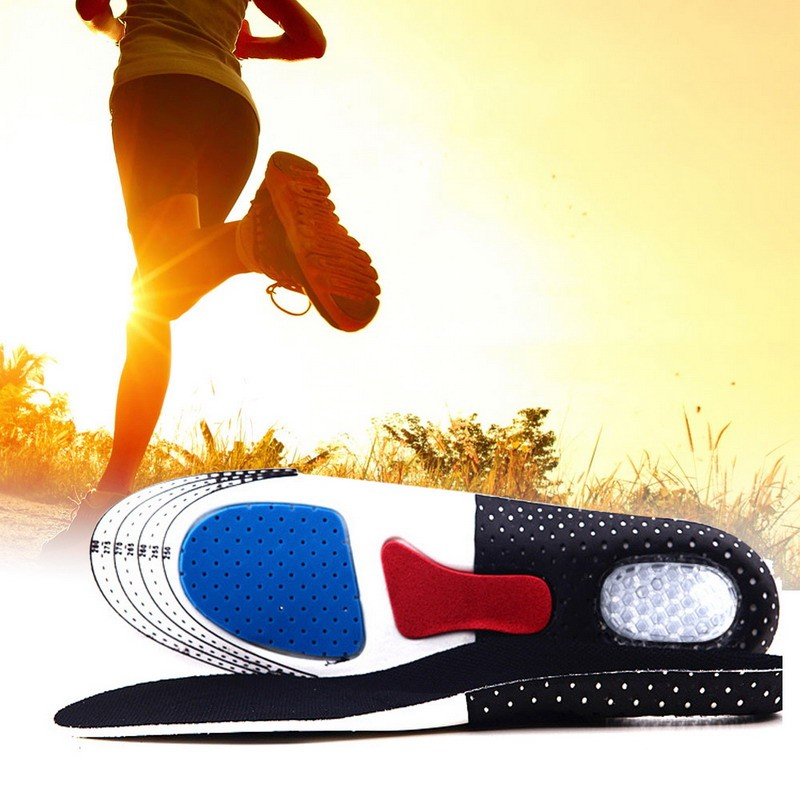 1 Pair Dropshipping Unisex Orthotic Arch Support Sport Shoe Pad Sport Running Gel Insoles Insert Cushion for Men Women foot care 1 pair super memory foam orthotic arch insert insoles cushion sport support shoe pads