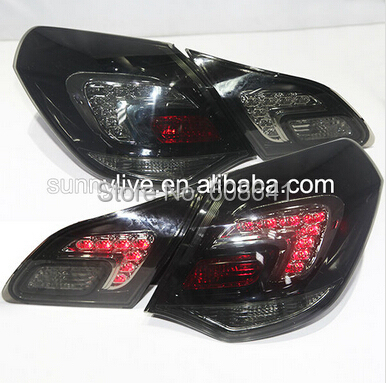 LED Tail Lamp LED Rear Lights For 2010-2013 year Smoke Black Color for Excelle XT for Opel Astra led tail lights for subaru for outback red white color 2010 2013 year for bmw style lf