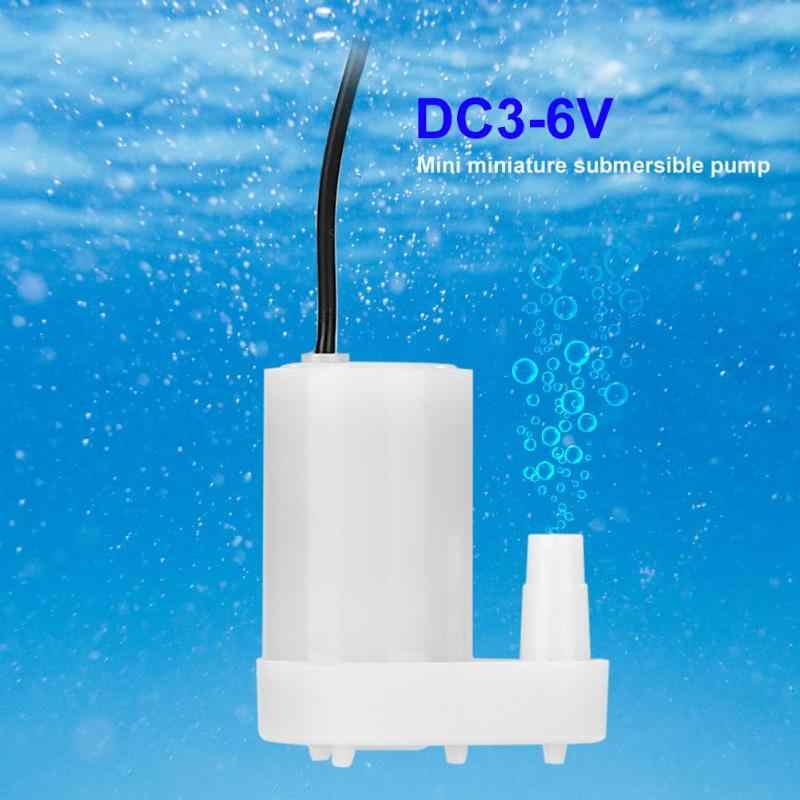 DC 2.5-6V Low Noise Brushless Motor Pump120L/H Mini Mikro Submersible Pompa Air untuk DIY Kit