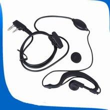 2 pçs walkie talkie mic fone de ouvido/fone de ouvido para baofeng UV-5R UV-5RE UV-B5 BF-888S UV-3R + UV-100 uv82 dualband rádio fone de ouvido