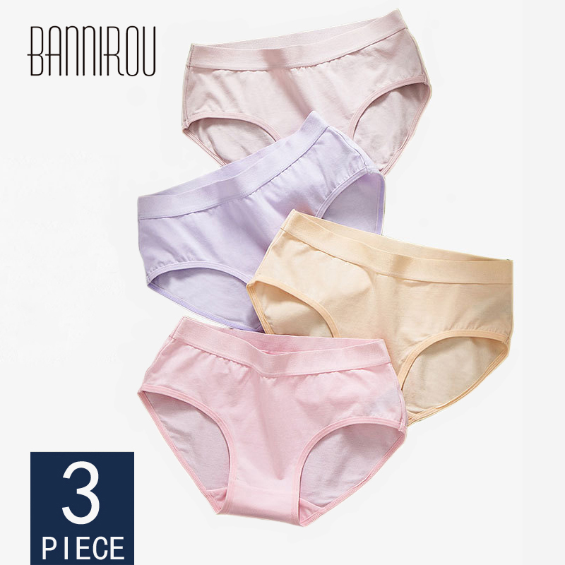 3 Pcs Woman   Panties   Cotton Briefs Low Waist Breathable Antibacterial Female   Panties   Brand Quality New Briefs Underwear For Women