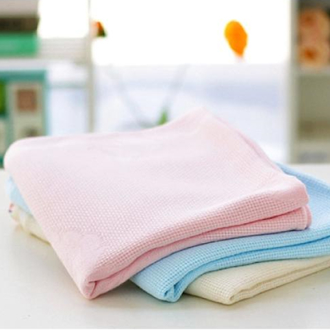 Pure Color Bamboo Fiber Blanket Air Conditioning Quilt Soft Nap Blanket 120*100cm For Baby Boys And Girls 1pcs Free Shipping