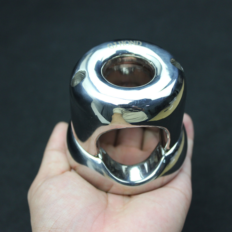 Heavy Top Stainless Steel Scrotum Weight Pendant Penis Restraint Locking Testis Weight Chastity Device Penis Ring