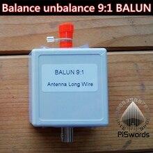PISWORDS równowagi brak równowagi długa antena BALUN 9:1 dla SDR oprogramowania zdefiniowane Radio z BNC interfejs