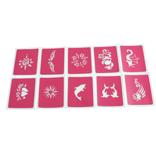 Pink Temporary Tattoo Stencils for Body Art