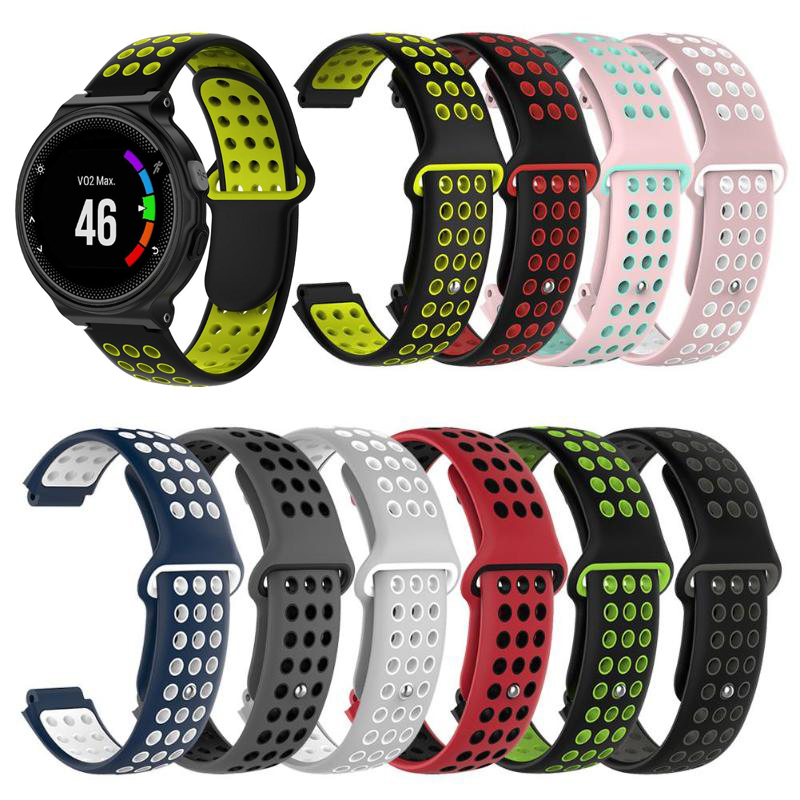 9 Colors Silicone Replacement Watch Band For Garmin Forerunner 230 / 235 / 220 / 620 / 630 / 735 Watch Outdoor Sport Watchstrap
