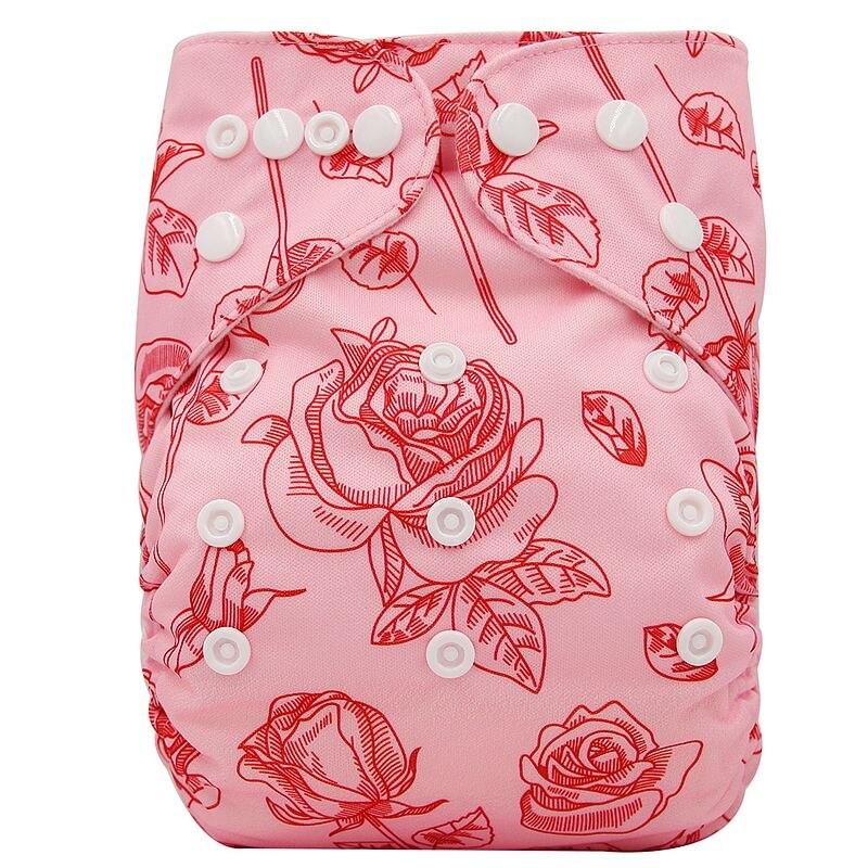 Ohbabyka, детские тканевые подгузники, многоразовые подгузники, унисекс, детские штаны для ухода за ребенком, водонепроницаемые тканевые подгузники с карманами, детские подарки для душа - Цвет: OB184