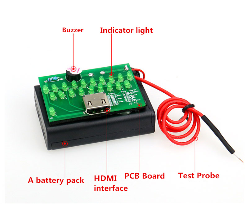 HDMI Cable Tester / Test Card HDMI Line Sequence Measurement DIY Maintenance Detector HDMI Cable Tester Test Board
