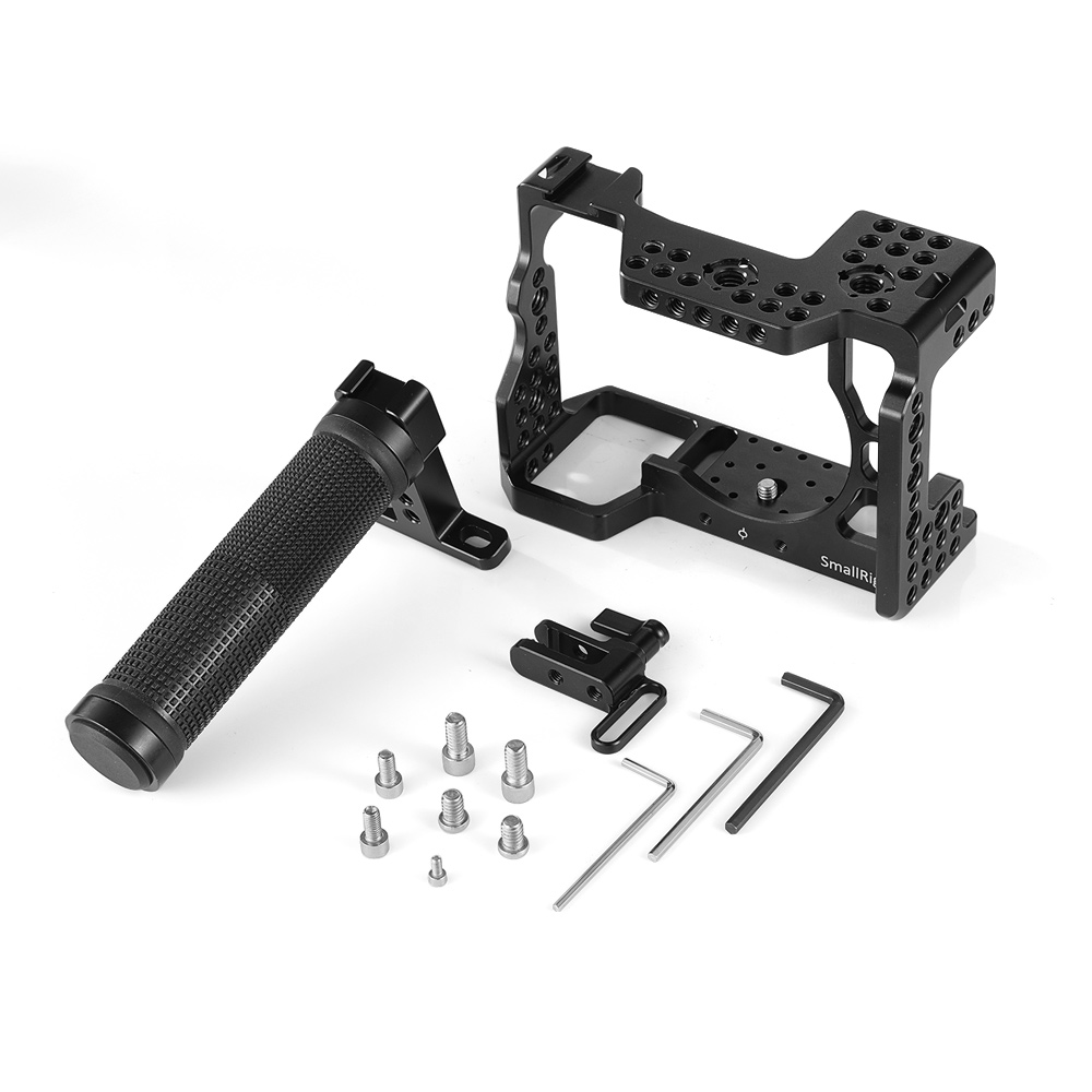 SmallRig A7M3 Camera Cage Kit for Sony A7R III / A7III Camera comes with HDMI lock & Rubber Top Handle Grip-in Camera Cage from Consumer Electronics    3
