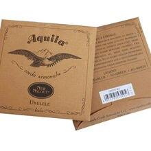 Original Aquila Ukulele Strings Nylon Soprano Concert Tenor Ukelele Strings Low G Nylgut Strings For Ukulele Musical Instruments