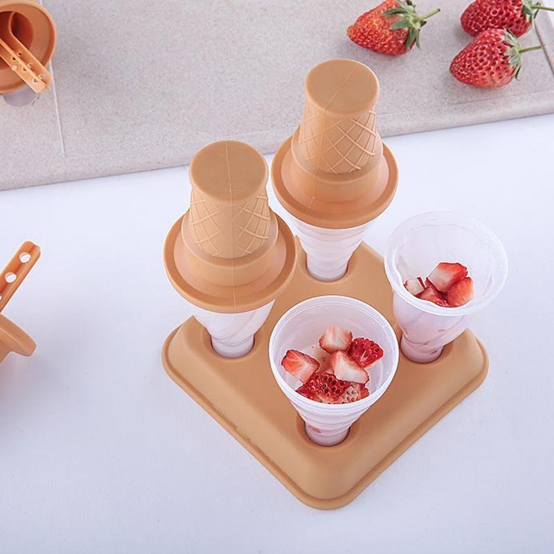 4Pcs ice lolly mold Homemade ice cream tool Reusable Ice cream grinder in Other Ice Cream Tools from Home Garden