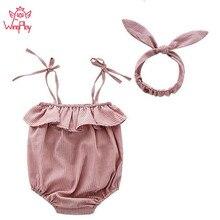 Fashion Baby Girl Clothes Newborn Bodysuits Square Collar Baby Girl Bod