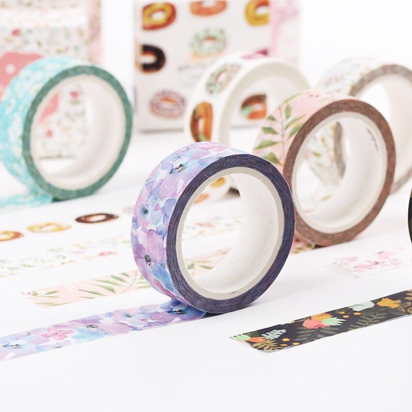 2PCS 15mm X 7m Japanese Washi Tape Decorative Tape Scrapbook Paper Masking Sticker Photo Album Washi Tape retro washi tape japanese masking tape seamless decorative masking tape for scrapbooking photo album drop shipping