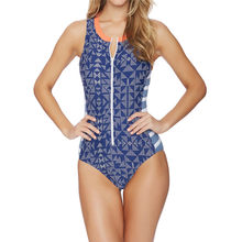 Bargain Women's Print Swimwear Ladies Printed Plaid Siamese Sexy Bikini Sexy Swimsuit zipper One-Piece Swimwear monokini Swimsuit dispense