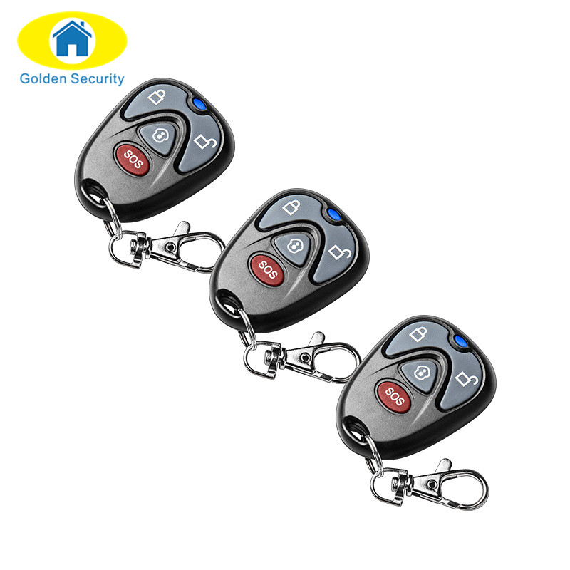 Golden Security 3/pcs 433Mhz Keychain Remote Control High Quality Gsm Remote For G90E G90B Wifi Alarm Systems Security Home wireless remote control smart socket control power rf socket switch plug outlet for gsm 3g wifi golden security alarm systems