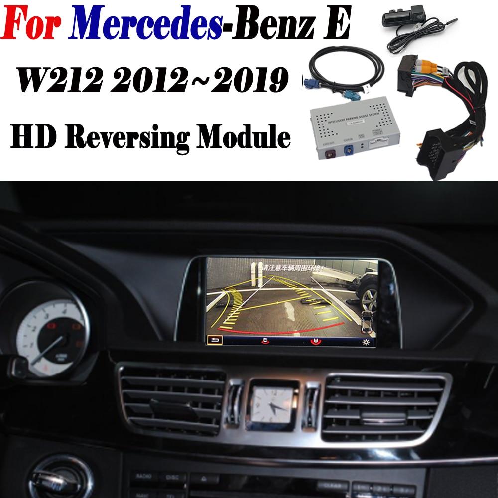 Rear Camera For Mercedes Benz E W212 2012~2019 2015 Adapter Original Screen upgrade Display backup Parking Camera Decoder Module|Vehicle Camera| |  - title=