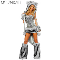 MOONIGHT Sexy Wolf Adult Costume Woman Animal Cosplay Halloween Costume Party Performance Cosplay Costume
