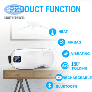 Image 2 - Usb Rechargeable Relaxation Electric Vibration Heated Anti Wrinkle Air Pressure Thermal Eye Massager with Music