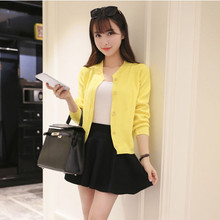 2016 Hitz Summer Air-conditioned Shirt Fashion Cardigan Knitted Sweater Coat Long-sleeved Short Slim Thin Jacket Women Outwear