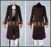 Free Shipping Cosplay Costume Attack on Titan Shingeki no Kyojin Rivaille Coat Uniform New in Stock Retail / Wholesale