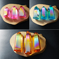 WT-G151 Wholesale Mixed colors Aura Crystal quartz Stone Natural aura spirit quartz point stone fashion stone for jewelry making