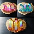 WT-G151 espíritu Al Por Mayor colores Mezclados aura Aura Piedra de cuarzo Cristal Natural de cuarzo piedra punto de piedra para la joyería de moda