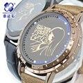 2016 Ад девушка часы Top brand Цифровые Наручные Часы женщины Повседневная Бизнес ЯПОНИИ Xingyunshi Кожа Аналоговые Часы Женщины Relogio