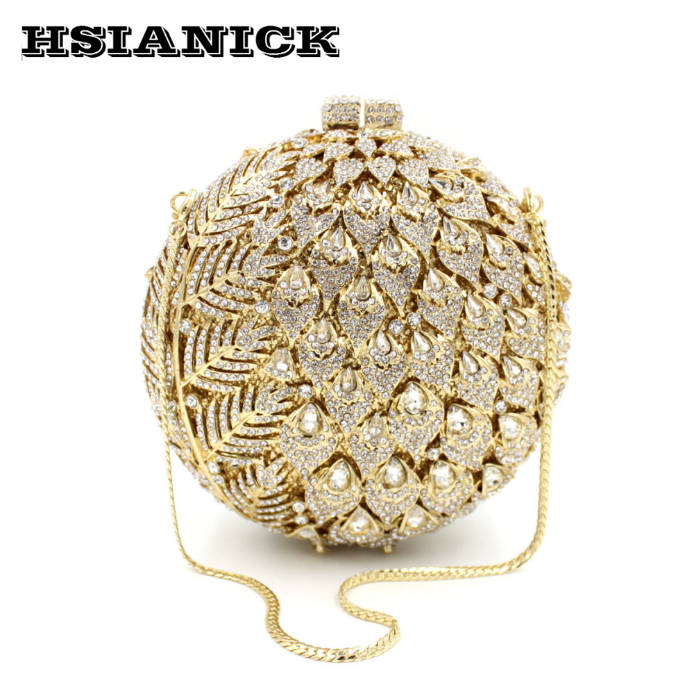 2017 Woman Direct Selling High Grade Luxury Gold Full Diamond Design Female Evening Bag Handbag Party Clutch Wedding Handbags europe tiger design hot selling high end luxury full diamond evening bag holding evening clutch handbag wedding party clutch bag