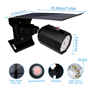 Image 2 - 10 LED Solar Light Adjustable Lighting Angle 500lm Waterproof Lamp Spotlight With Three Modes For Outdoor Gardn Wall Yard