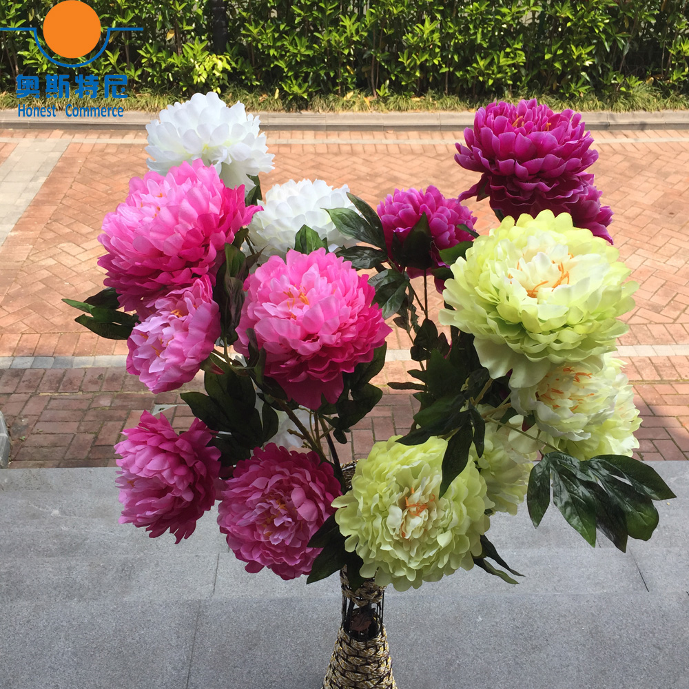 Big size artificial flower bouquets real touch 3 heads one branch big size artificial flower bouquets real touch 3 heads one branch artificial peony flower bouquets in artificial dried flowers from home garden on izmirmasajfo