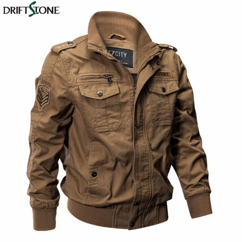 229bd2591b3 Men Military Pilot Jackets Bomber Cotton Coat Tactical Army Jacket Male  Casual Air Force Flight Jacket