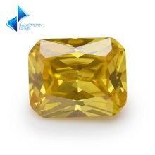 Размер 4x6mm ~ 10x12mm Форма восьмиугольника 5a Золотой Желтый