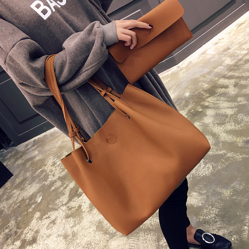 new casual female tote composite handbag ladies pack hotsale simple large capacity fresh women shoulder