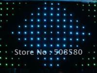 2x4M RGB LED Video Curtain SMD 5050/ Fireproof Velour Cloth 242pcs+Controller 7CHS SD&Sound&Auto&DMX